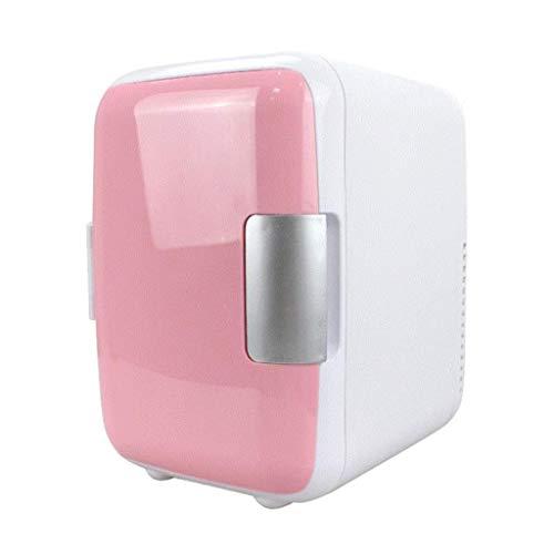 LDDLDG Mini Refrigerador Nevera 4L Mini refrigerador refrigerador y Calentador Mini vehículo refrigerador portátil para Coche y Casa (Color : Pink)