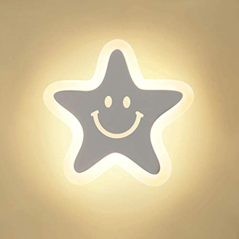 DYY LED Acryl Wandleuchte Eisen Lampensockel Schlafzimmer Nachttischlampe Wohnzimmer Flur Dekoration Dimmbare Nachtlicht (Farbe   Three-Farbe Light, gre   28x28CM)