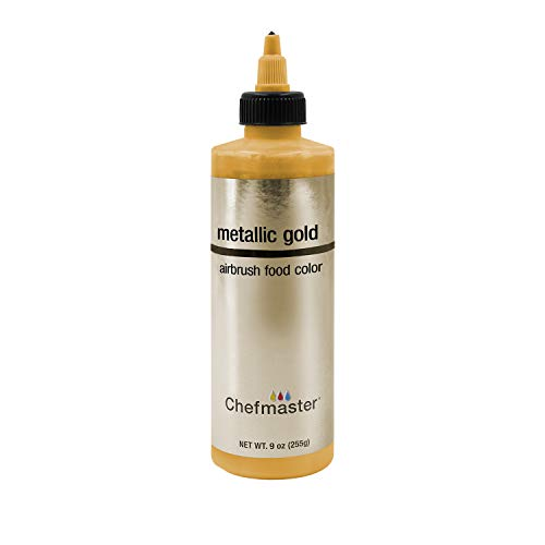 Chefmaster Airbrush Food Color, 9-Ounces, Metallic Gold