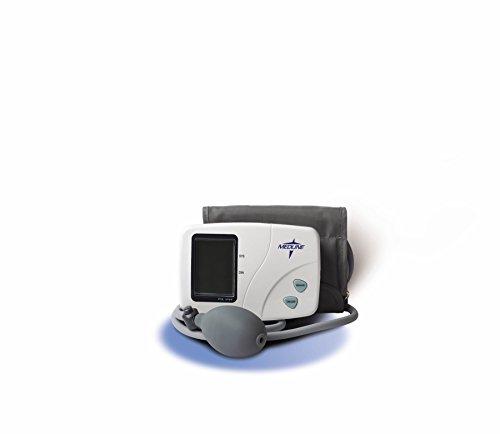 Medline MDS3002LA Pro Digital Blood Pressure Monitor, Semi-Automatic, Latex, Adult/Large