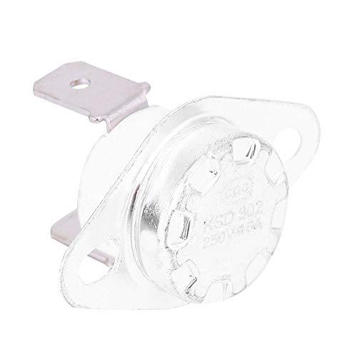 Interruptor Control de Temperatura Termostato Interruptor Térmico 250V16A Plástico Hierro Temperatura Normalmente Cerrada Temperatura Control Módulo Interruptor Termostato(160℃)