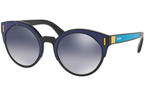 Prada PR03US Zonnebril Zwart Blauw Geel w/Light Grey Gradient Blauw 53mm Lens SUI3A0 SPR03U PR 03US SPR 03U