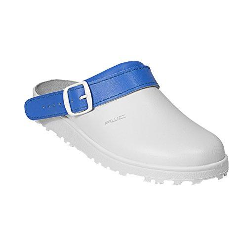 AWC-Footwear 17000-14-44-37 Classic color Arbeitsschuhe, Mehrfarbig (Weiß/Aqua-Blau Weiß/Aqua-Blau), 37 EU
