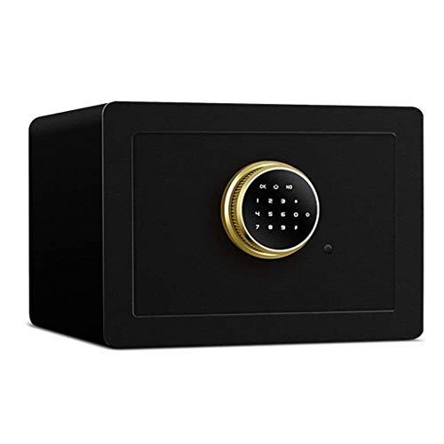 WangJUNXIU Digitale kluis voor thuis, dubbel alarm wachtwoord vuurbestendig kluis, van micro koolstoflegering staal, geschikt voor kantoor en thuisSafe - W35 × D25 × H25 cm veilig zwart