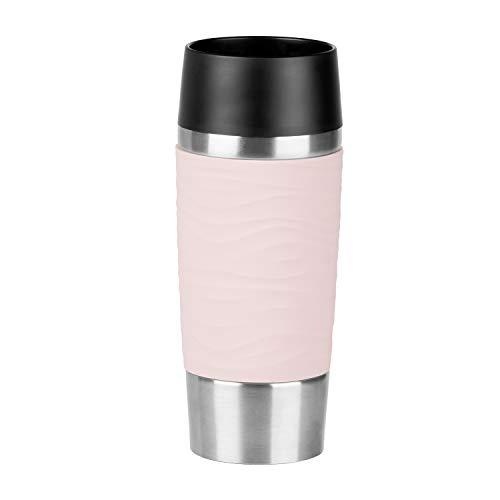 *Emsa N2010600 Travel Mug Waves Isolierbecher, (18/10), Edelstahl/puder-rosa*