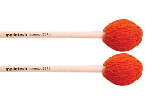マレテック Malletech マリンバ・マレット E.サミュシリーズ 【ES16】 ハンドル:バーチ(Birch) 硬さ:ミディアム~ミディアムハード カラー:オレンジ