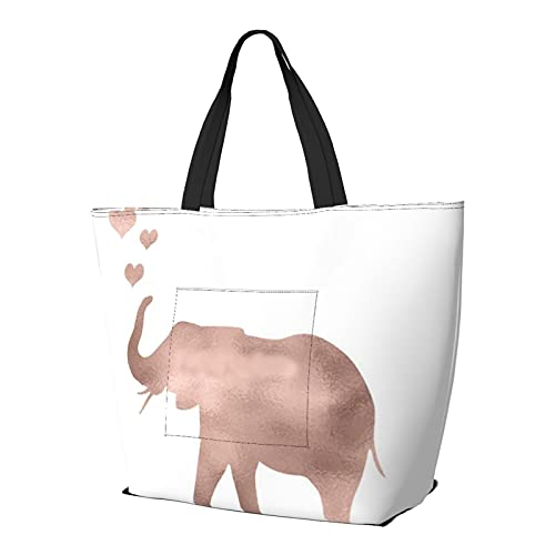 Elephant Love - Bolsa de hombro multifuncional de gran capacidad, bolsa de trabajo, ligera, bolsa de viaje, bolsa de playa, para mujer