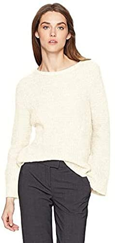 A|X Armani Exchange Women's Long Sleeve Mohair Sweater, Snow, XS