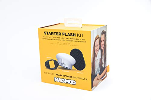 MagMod Starter Flash Kit – Fits Most Speedlites – Includes MagGrip, MagSphere, and MagGrid