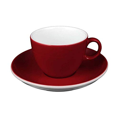 Seltmann VIP. Collection Cappuccinotasse mit Untertasse, Rot, 0.22 L, 1-teilig