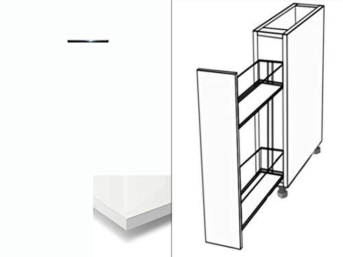 Premium-Ambiente ATUVWRH06 Unterschrank Apothekerschrank Vollauszug Softclosing Hochglanz (Breite 30cm, 86 Bianco)