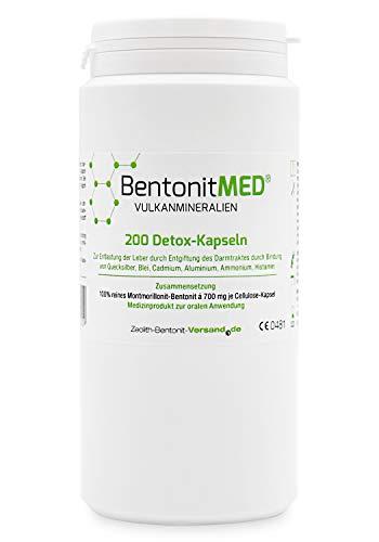 Bentonit MED 200 Detox-Kapseln, CE zertifiziertes Medizinprodukt