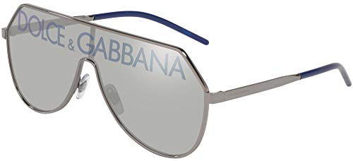 Dolce & Gabbana DG2221 Gunmetal/Grey Silver Blue One Size
