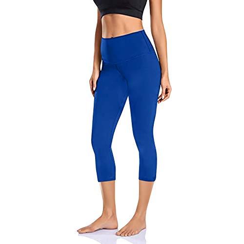 Pantalones Jogger Leggings Yoga Deportivo Mujer Cintura Alta con Bolsillos Push Up Levante de Control la Barriga Color sólido para Running Training Fitness Estiramiento Yoga y Pilates