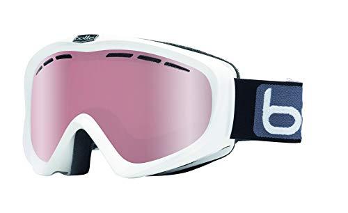 Bollé Y6 OTG Shiny White/Vermillon Gun Medium-Large Ski Goggles Unisex-Adult