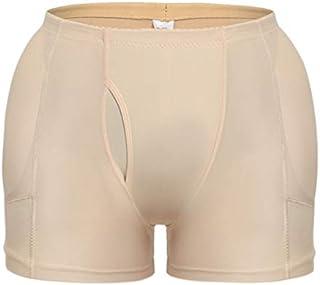 Men Padded Brief Hip Enhance Butt Lifter Boxer Enhancer Underwear Male Padding Bras for Liftting Body Shaper (Color : Beige, Size : XXL)