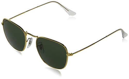 Ray-Ban RB3857 Metal Square Sunglasses, Legend Gold/Green, 51 mm