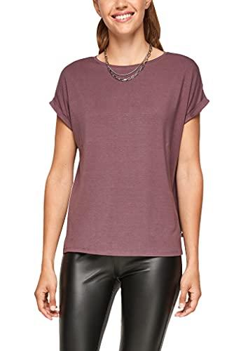 Q/S by s.Oliver Damen Jerseyshirt aus Lyocell purple M