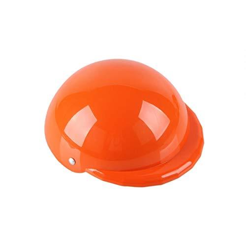 JRXyDfxn 1 Packung Lustig Cool Haustier-Hündchen Helm-Kappe für Sun Regen Schutz Katzen-Welpen Netter Helm Hut Kostüm für Small Medium Hunde Katzen (orange)