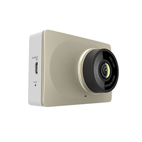 """YI 2.7"""" Screen Full HD 1080P60 165 Wide Angle Dashboard Camera, Car DVR Vehicle Dash Cam with G-Sensor, WDR, Loop Recording, Golden"""
