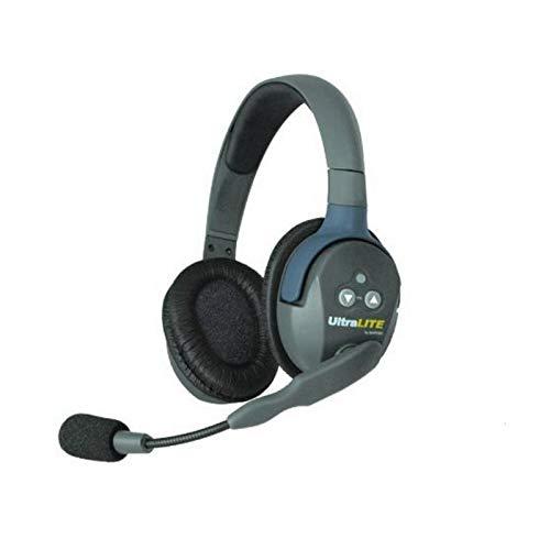 Eartec UL2D UltraLITE Full Duplex Wireless Intercom 2 Way Communication System for 2 Users - 1 ULDM Dual-Ear Master Headset and 1 ULDR Dual Ear Remote Headset