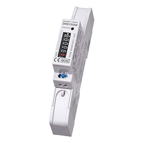 DRS155AE MID - digitaler Wechselstromzähler/Stromzähler mit Rollenzählwerk 5(50) A für Hutschiene mit S0, geeicht/MID zugelassen