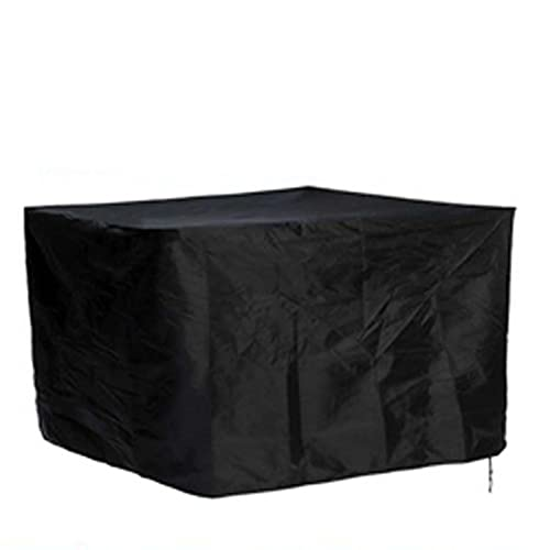 WZDD 213x132x74cm Rectangular Garden Furniture Covers Waterproof, Square Patio Table Covers, Windproof & UV Protection Patio Furniture Cover Black, 420D Oxford Outdoor Furniture Cover