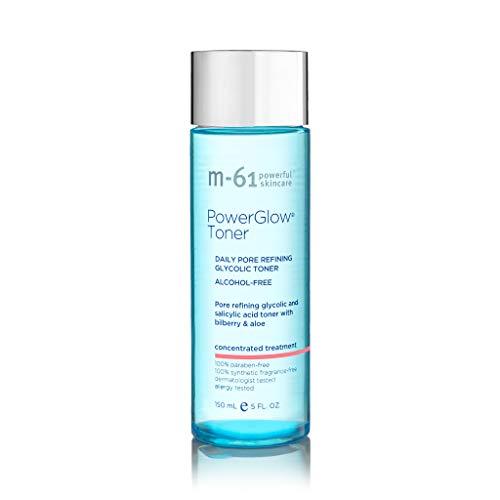 M-61 PowerGlow Toner - Daily pore refining glycolic and salicylic acid toner with bilberry & aloe.