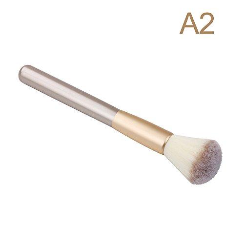 Make-Up-Pinsel Single Holzgriff Lidschatten Stiftung LippenbüRste Champagner Make-Up-Pinsel-Set