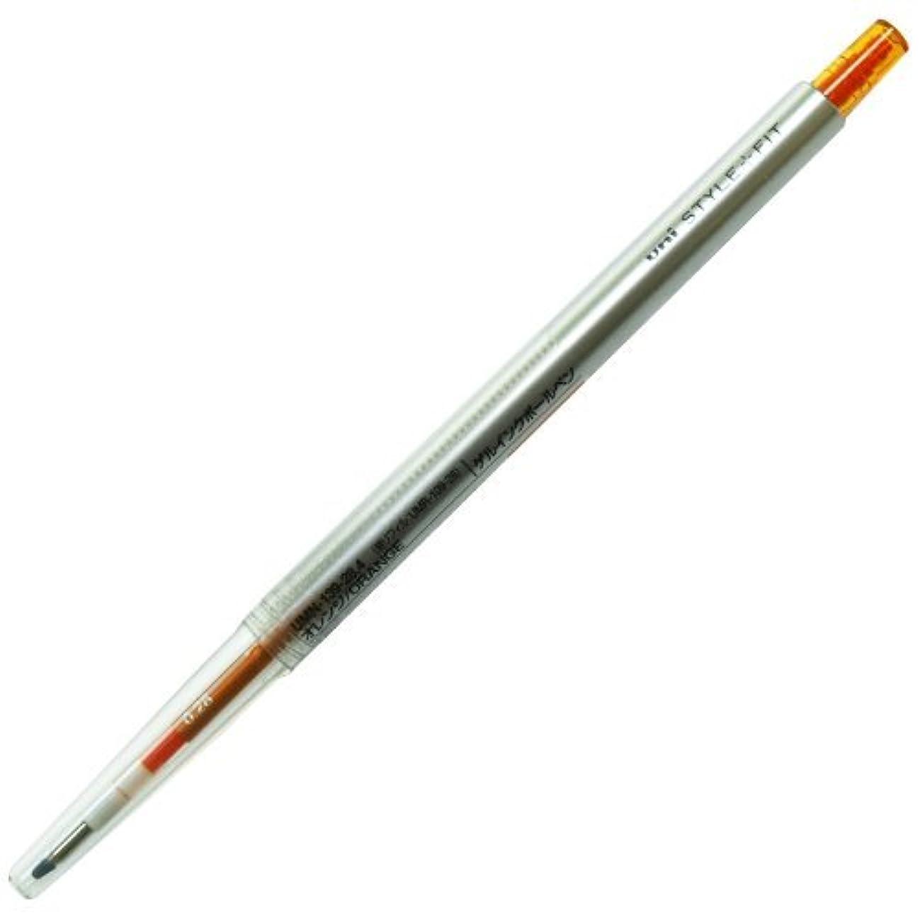 ほぼ世界の窓チャットスタイルフィット(STYLE-FIT) ゲルインクボールペン 0.28mm【オレンジ】 UMN-13 Japan