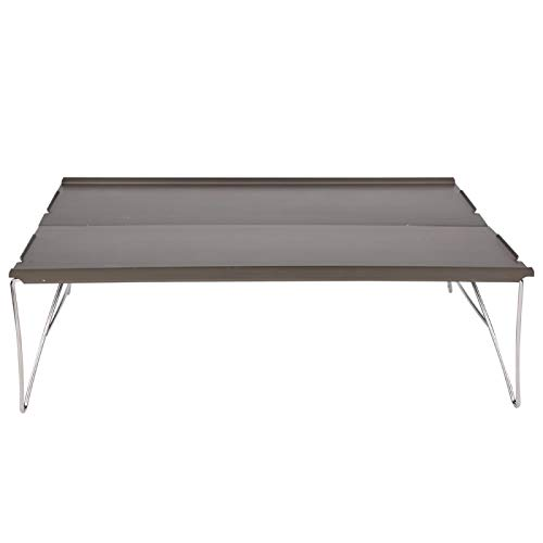 FECAMOS Senderismo Escritorio Mesa para Acampar Aleación de Aluminio, para Acampar Senderismo Viajar, para Acampar al Aire Libre(Picnic Table)