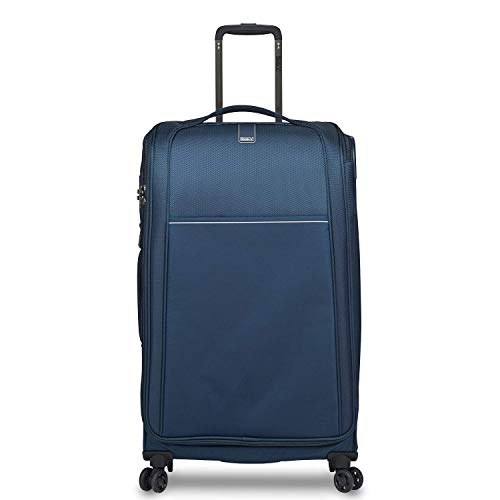 STRATIC Unbeatable 4.0 Soft Shell Trolley Suitcase Travel Suitcase Soft Luggage TSA Lock Water Resistant Expandable Large Navy