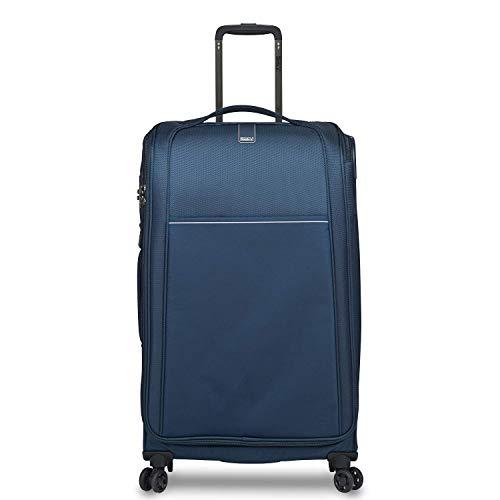STRATIC Unbeatable 4.0 Suitcase Soft Shell Trolley Suitcase Soft Luggage TSA Lock Water Resistant Expandable Large Khaki, Navy (Blue) - 3-1025-75-navy