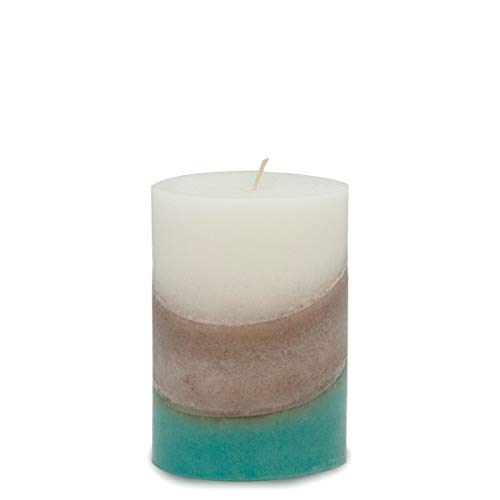 Cottage Charm Handmade Scented Layered Pillar Candle (3x4)