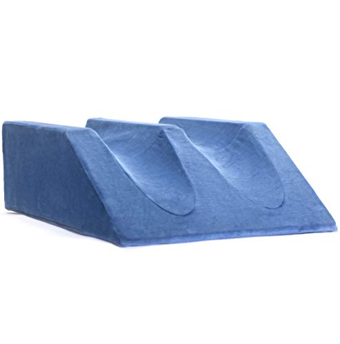 Milliard Double Leg Elevator Wedge Pillow 9.5 in, Foam Bed Wedge Support Elevation Cushion for Post...