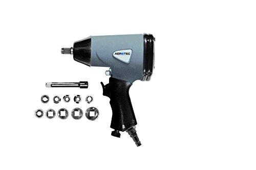 Schlagschrauberset 1/2 Zoll ST | Druckluft-Schrauberset mit Nussensatz | Drehmomenteinstellung | Rechts-/Linkslaufumschaltung