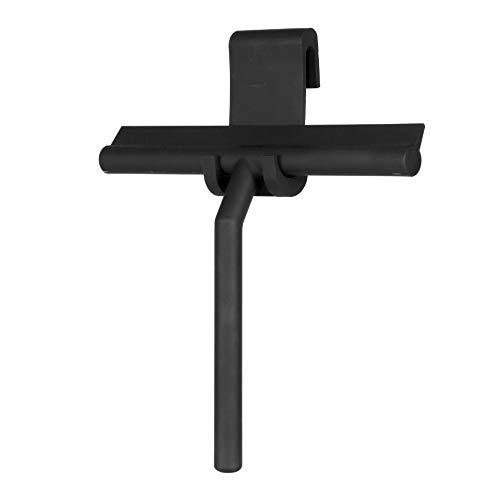 IMEEA Shower Squeegee Window Glass Wiper Scraper Cleaner Enhanced Handle with Silicone Blade & Holder Hook for Bathroom/Kitchen/Car Glass/Mirror/Door/Tile, 8-Inch (Black)
