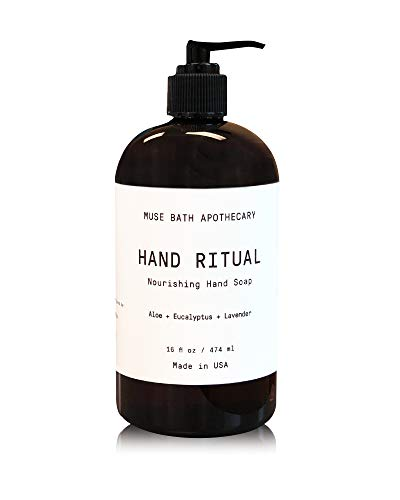 Muse Bath Apothecary Hand Ritual - Aromatic and Nourishing Hand Soap, 16 oz, Infused with Natural Essential Oils - Aloe + Eucalyptus + Lavender
