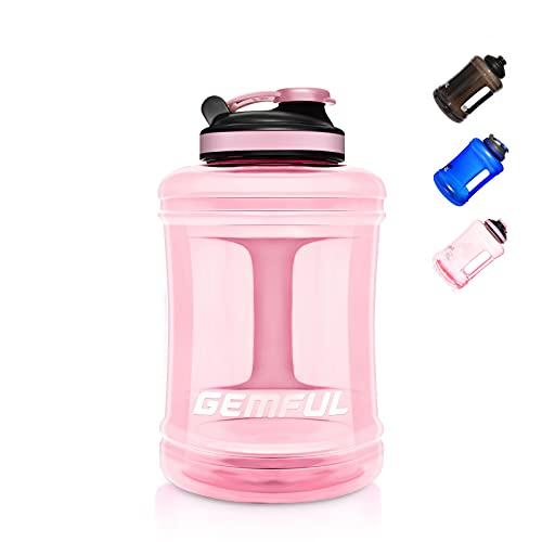 GEMFUL Sports Large Water Bottle with Handle 85 OZ BPA-Free Drinking Big Jug Pink