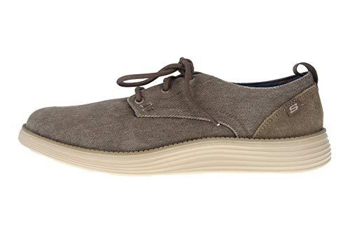 Skechers Men's Status 2.0 PEXTON Boat Shoes, Grey (Taupe Canvas TPE), 11 (46 EU)