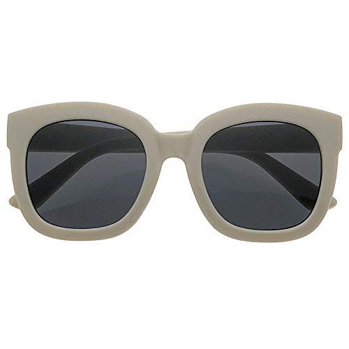 fuqiuwei Sonnenbrillen Caja Grande Gafas De Sol Cuadradas Mujer Cara Redonda Retro Caja Blanca Gafas De Sol Protección Uv
