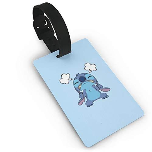 DNBCJJ Etiquetas de equipaje para maletas Eminent Stitch etiqueta de equipaje, con nombre ID maleta para mujeres, hombres, niños, accesorios de viaje