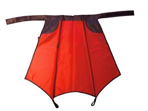 Drakenhuid fiets regenbescherming in rood - extra groot - het snelle alternatief voor Velo regenbroek en poncho (rood met zwarte details)