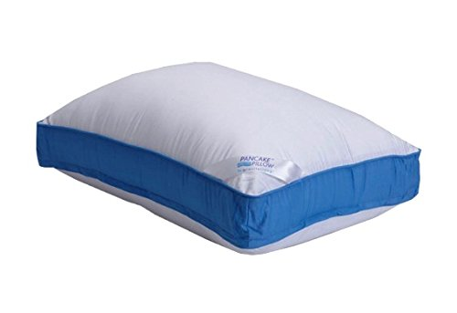 Pancake Pillow Extra Pillow Case Queen White