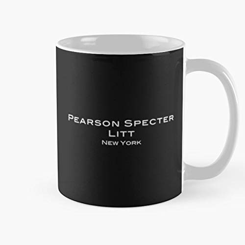 5TheWay Harvey Gift LITT Suits Up Show Boss Pearson Specter For Series Taza de café con Leche 11 oz