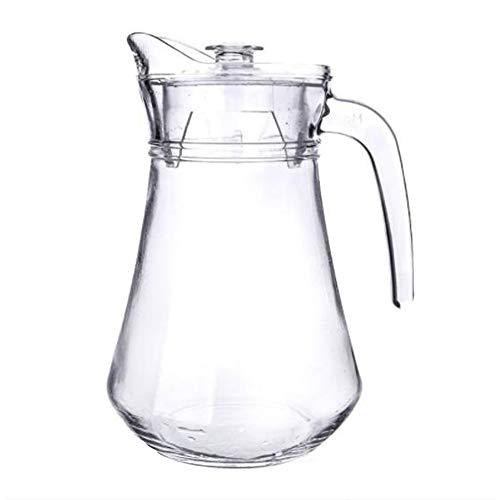 Pitcher warm/koud water kruik sap en ijsthee drank karaf liter geribbeld ontwerp grootte Optioneel: 1300mL | 1100mL | 1100mL snelle hittebestendigheid temperatuurverschil 60 ° C met deksel stijlnaam 3 Kleur