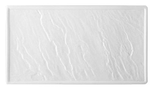 HOTELWARE Pierre Plat rectangulaire 26 x 15 cm, Porcelaine, Blanc