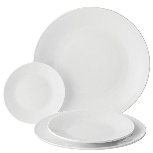 Utopia Anton Noir en porcelaine fine Z03018–000000-b01006 Assiette, 21 cm (lot de 6)