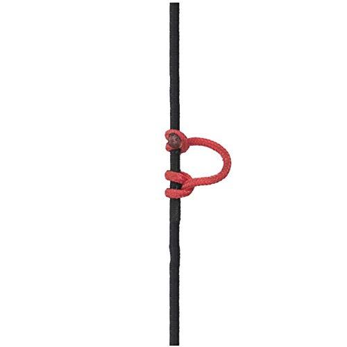NO LOGO XBF-Bögen, Bogenschießen 3m Compound Bogen D Schleifen-Ring-Seil-Schnur-Freigabe U Seil Nylon Bowstring Aid Zubehör (Farbe : Rot)