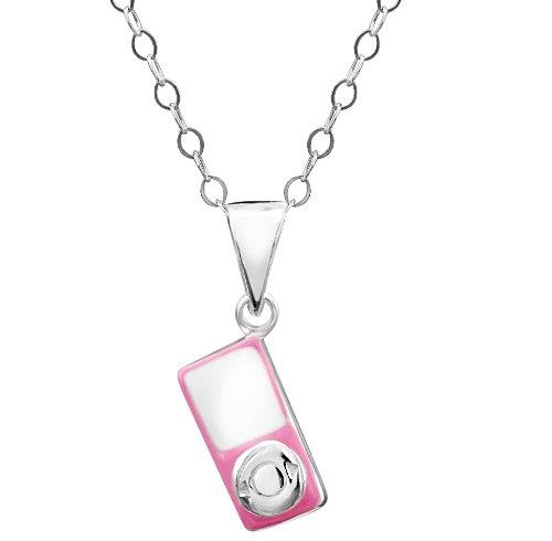 Jo voor meisjes sterling zilver roze Mp3 speler hanger